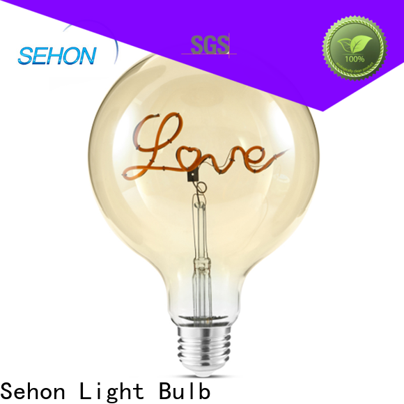 Top visible filament light bulb for business used in bathrooms