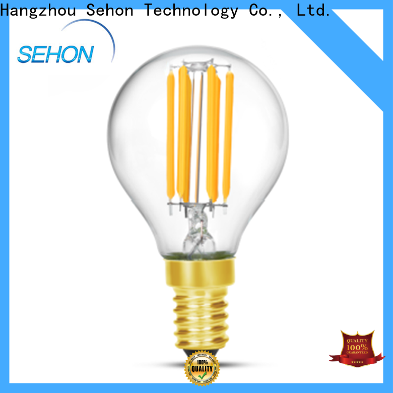 Sehon Top 12w led filament bulb company used in bathrooms