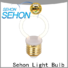 Sehon New vintage filament lights factory used in bathrooms