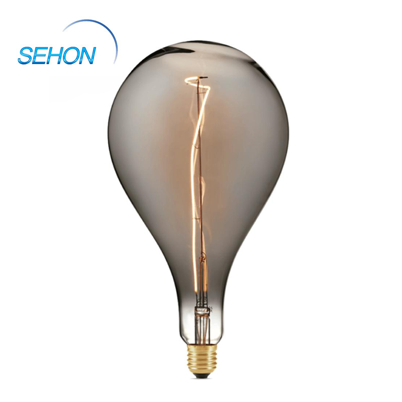 Retro Led Bulbs 160mm Dimmable Clear/Smoked/Amber Glass Body
