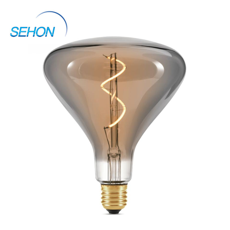 Chandelier Led Light Bulbs 140mm Dimmable Clear/Smoked/Amber Glass E27