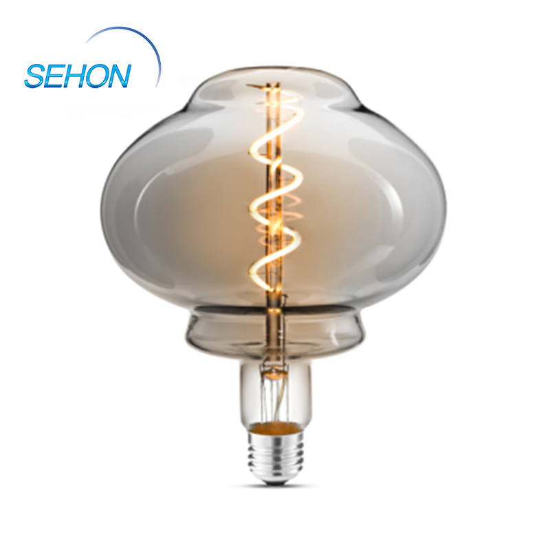L155 Dimmable Led Light Bulbs Clear/Smoked/Amber Glass Dimming