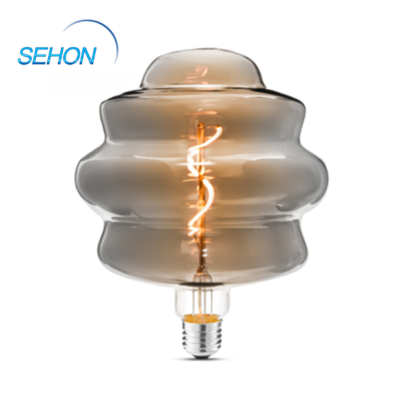 L165 Filament Bulb Lamp Clear/Smoked/Amber Glass Dimming