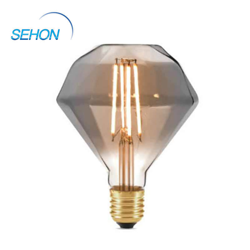 Chandelier Led Light Bulbs 110mm Diamond Clear/Smoked/Amber Glass Dimming 4W