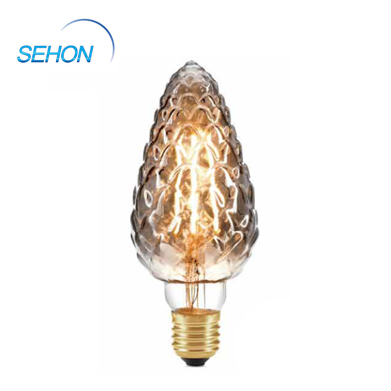 PC70 Vintage Light Bulbs Dimmable Clear/Smoked/Amber Glass 70mm LED Filament Bulb E27 4W