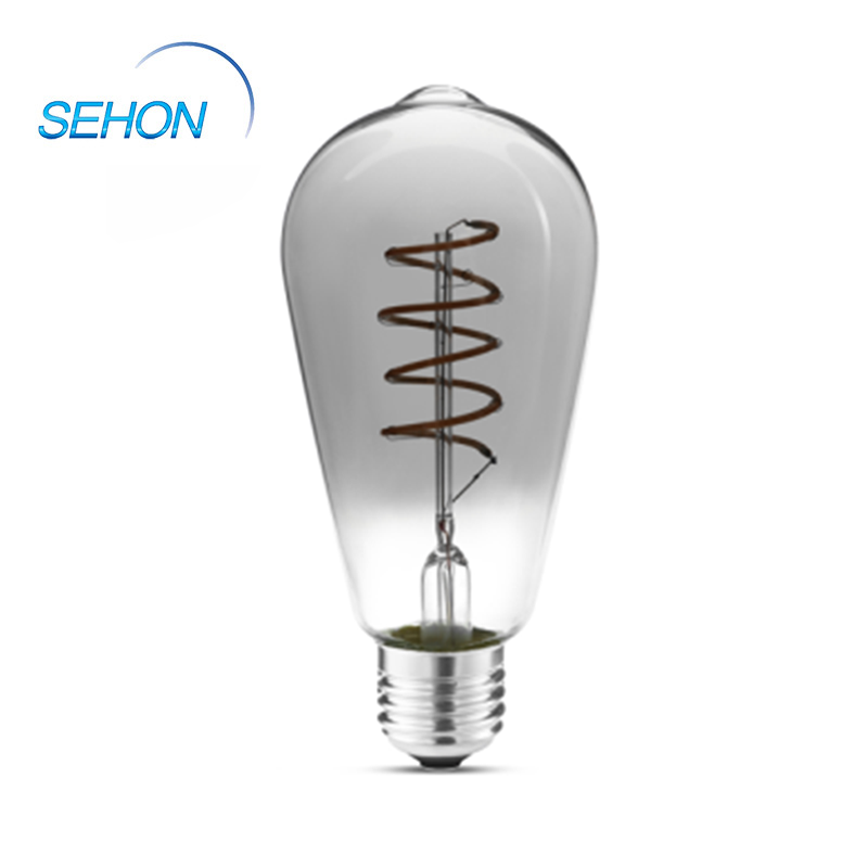 Led Filament Bulbs Smoked/Amber/Clear Glass Dimming Filament Lamp ST64