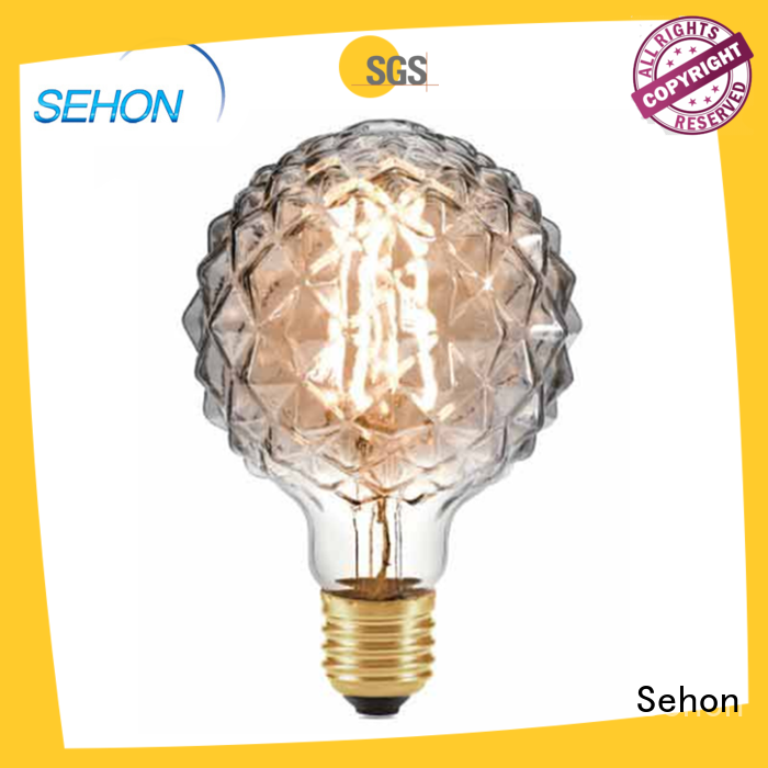 Sehon led teardrop filament 40w equivalent light bulb Suppliers used in living rooms
